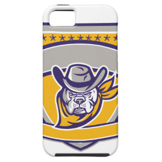 Bulldog Sheriff Cowboy Head Shield Retro iPhone 5 Cases