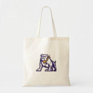 Bulldog Sheriff Crouching Retro Tote Bag