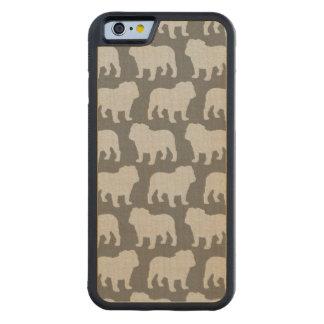Bulldog Silhouettes Pattern Maple iPhone 6 Bumper Case
