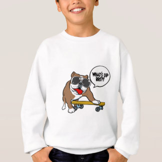 Bulldog Skateboarder Sweatshirt