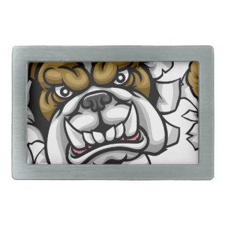 Bulldog Soccer Football Mascot Rectangular Belt Buckles