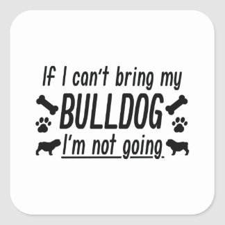 Bulldog Square Sticker