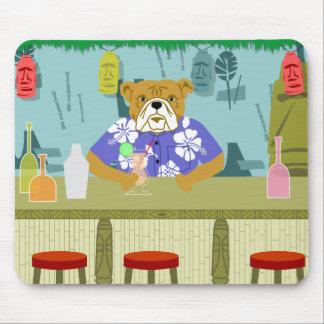 Bulldog Tiki Bar Mouse Pad