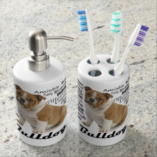 Bulldog Traits Bathroom Set