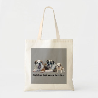 Bulldog Trio Tote Bag