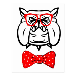 Bulldog Unique Funny Geek Postcard