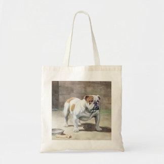Bulldog Vintage Tote Bag