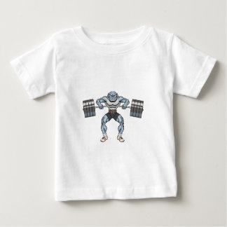 bulldog weight lifter baby T-Shirt