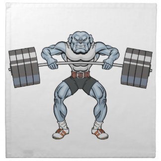 bulldog weight lifter napkin