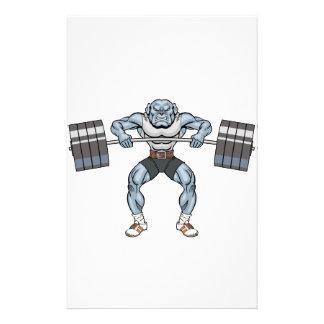 bulldog weight lifter stationery