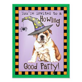 Bulldog Witch 11 Cm X 14 Cm Invitation Card