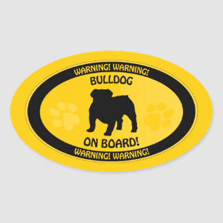 Bulldog Xing Oval Sticker