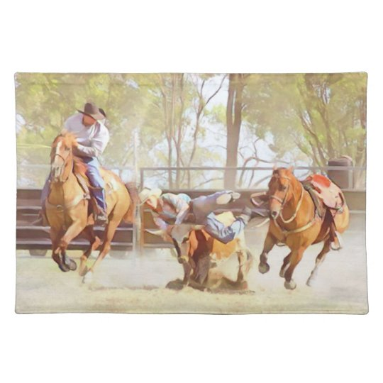 Bulldogging Place Mats