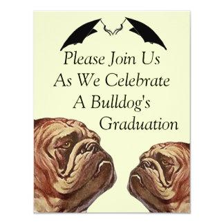 BULLDOGS GRADUATION INVITATION ~EZ2 CUSTOMIZE