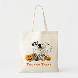 Bulldogs Halloween Tote Bag