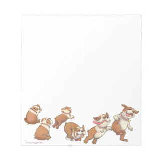 bulldogs horizontal notepad