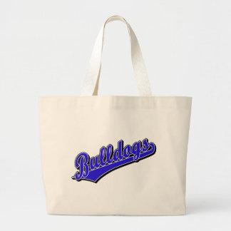 Bulldogs in Blue Jumbo Tote Bag
