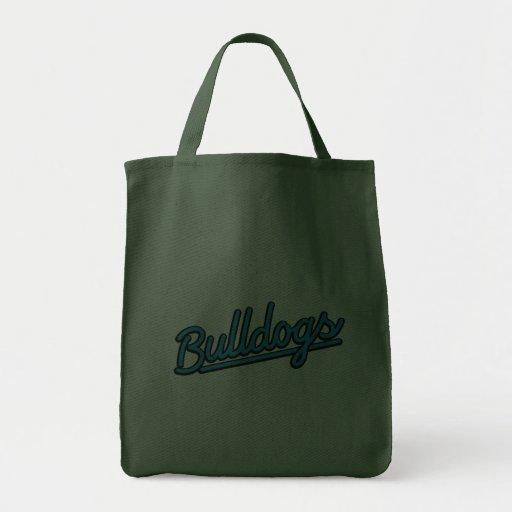 Bulldogs in cyan bags