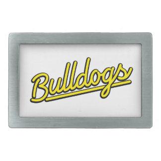 Bulldogs in yellow belt buckles