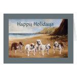 Bulldogs On The Beach Christmas Card