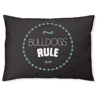 Bulldogs Rule Dog Bed – Black