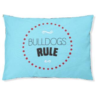 Bulldogs Rule Dog Bed – Blue