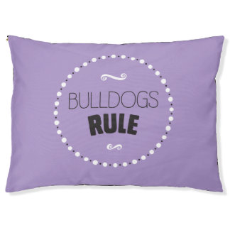Bulldogs Rule Dog Bed – Editable Background