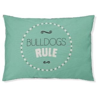 Bulldogs Rule Dog Bed – Green