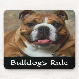 Bulldogs Rule English Bulldog Portrait Mousepad