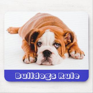 Bulldogs Rule!  English Bulldog Puppy Dog Mousepad
