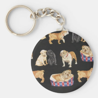 Bulldogs & Shar Peis Key Ring