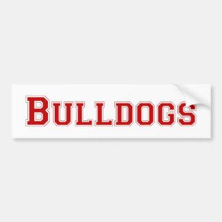 Bulldogs square logo in red bumper stickers