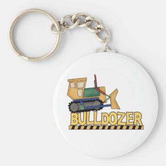 Bulldozer Basic Round Button Key Ring