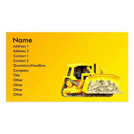 Bulldozer Business Card
