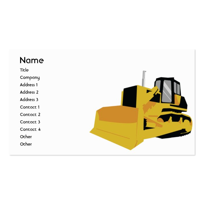 Bulldozer - Business Pack Of Standard Business Cards