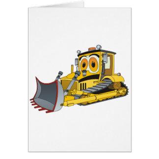 Bulldozer Cartoon Card