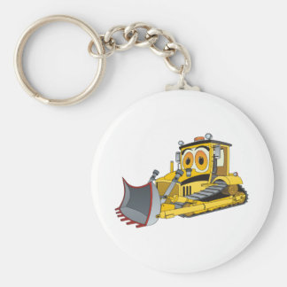 Bulldozer Cartoon Keychain