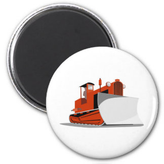bulldozer construction equipment machinery 6 cm round magnet