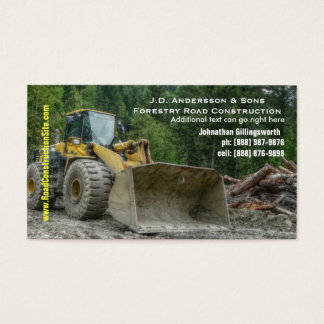 Bulldozer Heavy Road Construction Earth Moving Business Card