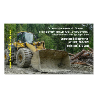 Bulldozer Heavy Road Construction Earth Moving Business Cards