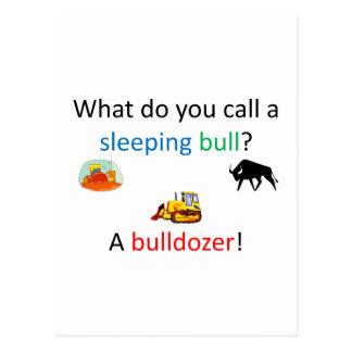 Bulldozer joke postcard