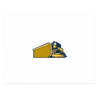 Bulldozer Low Angle Retro Postcard
