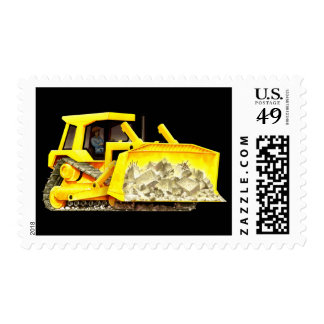 Bulldozer Postage Stamps