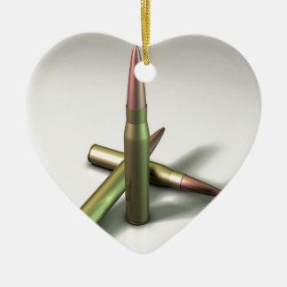 Bullet Ammo Ceramic Heart Decoration