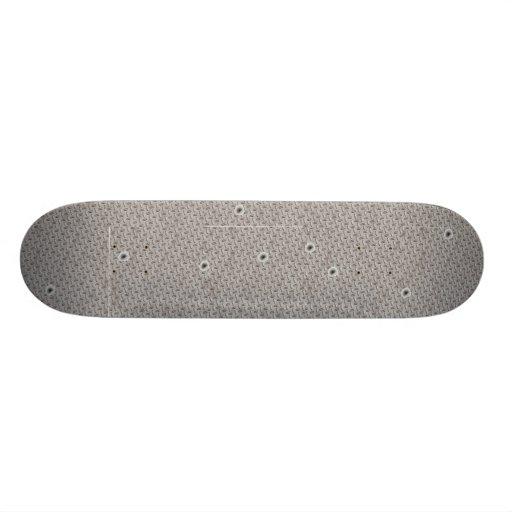 Bullet Hole & Diamond Plate Custom Skate Board