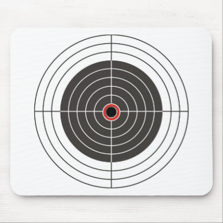 Bullet hole in the target - bull's eye shooting mouse pad