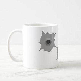 Bullet Hole Message Mug