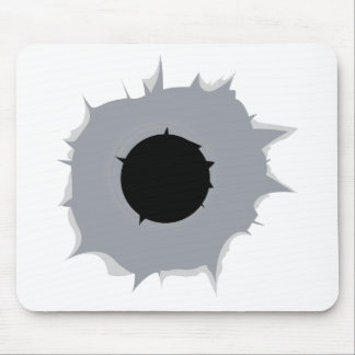 Bullet Hole Mouse Pad