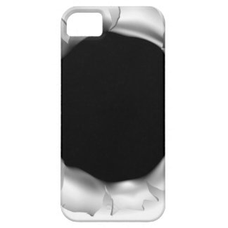 Bullet Hole or Rip Through Background Case For The iPhone 5