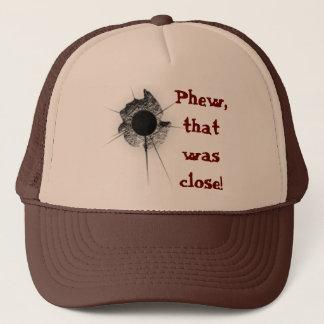 Bullet hole trucker hat